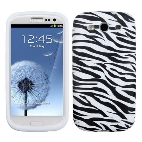 Insten Zebra Hard Case For Samsung Galaxy S3 - White/Black