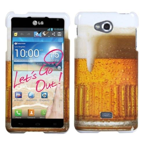 Insten Beer Hard Case For LG Spirit 4G - Orange/White