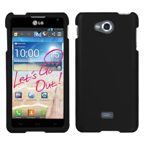 Insten Hard Rubber Cover Case For LG Spirit 4G - Black