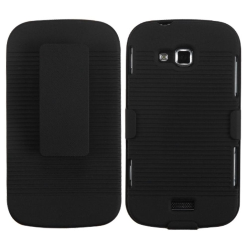 Insten Hard Rubber Cover Case w/Holster For Samsung ATIV Odyssey - Black