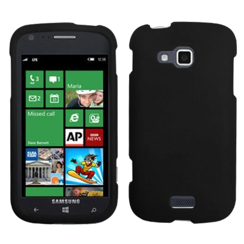 Insten Hard Rubber Coated Case For Samsung ATIV Odyssey - Black