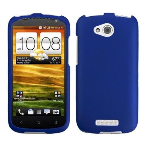 Insten Hard Rubber Case For HTC One VX - Dark Blue