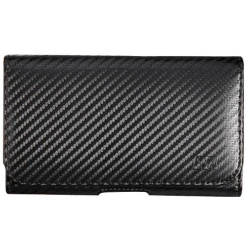 Insten Carbon Fiber Leather Fabric Cover Case w/Belt Clip For Samsung Galaxy Note 3 - Black