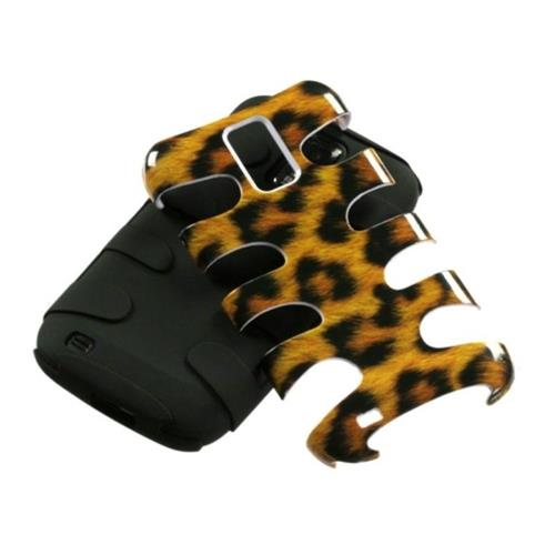 Insten Fishbone Leopard Hard Hybrid Silicone Case For Samsung Galaxy S2 Hercules T989 - Brown/Black