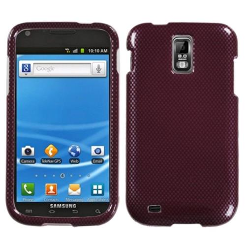 Insten Carbon Fiber Hard Clear Case For Samsung Galaxy S2 Hercules T989 - Red