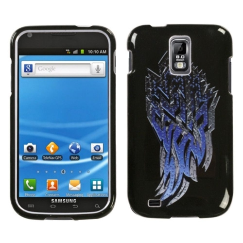 Insten Steel Shard Hard Case For Samsung Galaxy S2 Hercules T989 - Black/Blue