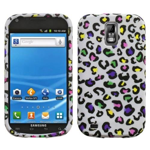 Insten Leopard TPU Case For Samsung Galaxy S2 Hercules T989 - Colorful/White