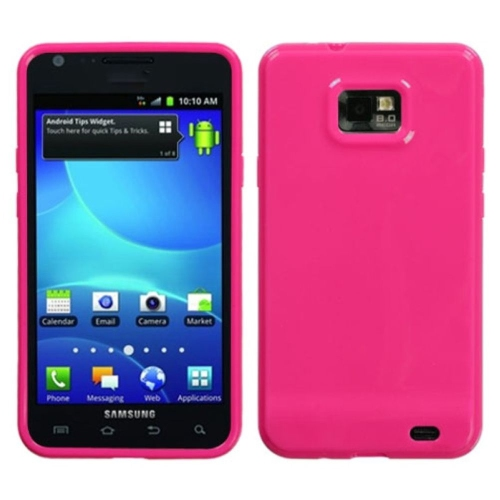 Insten Jelly TPU Cover Case For Samsung Galaxy S2 Attain I777 - Pink