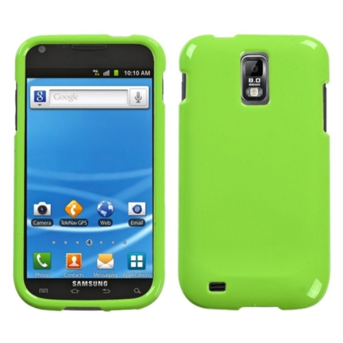 Insten Hard Transparent Crystal Case For Samsung Galaxy S2 Hercules T989 - Green
