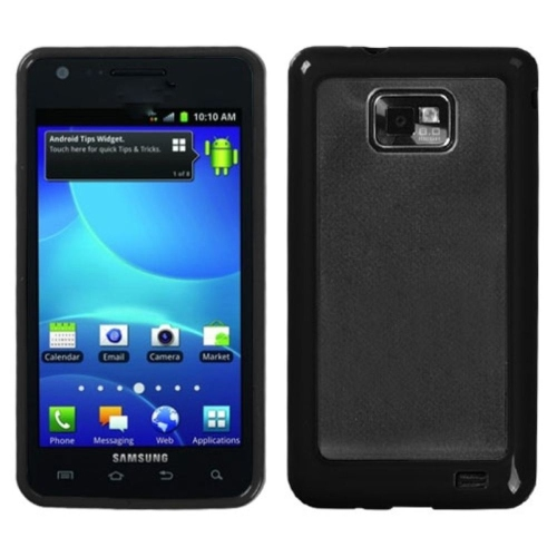 Insten Hard Matte TPU Cover Case For Samsung Galaxy S2 Attain I777 - Clear/Black