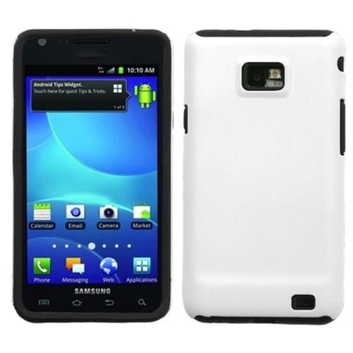 Insten Fusion Hard Dual Layer Silicone Cover Case For Samsung Galaxy S2 Attain I777 - White