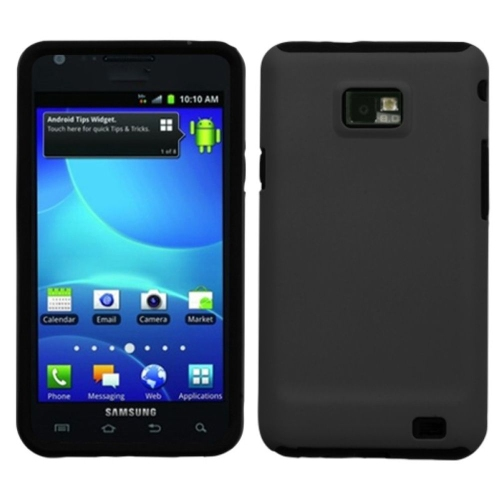 Insten Fusion Hard Hybrid Rubber Coated Silicone Case For Samsung Galaxy S2 Attain I777 - Black