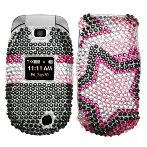 Insten Twin Stars Hard Bling Case For LG Revere - Pink/Black