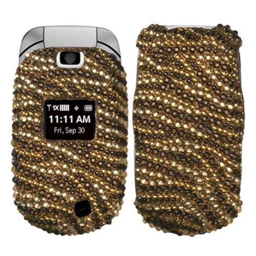 Insten Tiger Skin Hard Rhinestone Cover Case For LG Revere - Brown