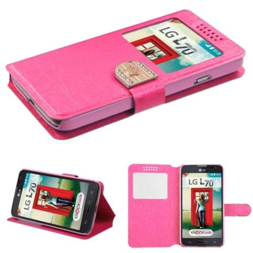 Insten Case w/stand For LG Optimus Exceed 2 VS450PP Verizon/Optimus L70, Hot Pink/Gold