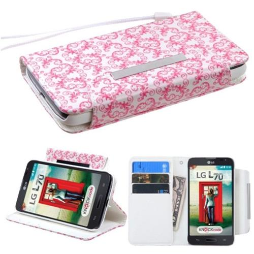 Insten Flower/Butterfly Leather Case For LG Optimus Exceed 2 VS450PP Verizon/Optimus L70, White