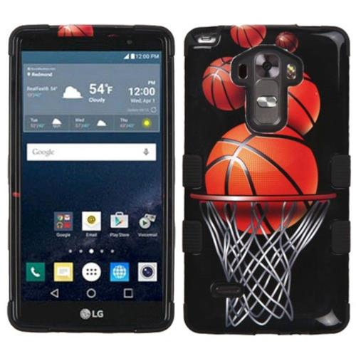 Insten Basketball Hoop Hard Dual Layer Silicone Case For LG G Stylo LS770/G Vista 2, Black/Orange