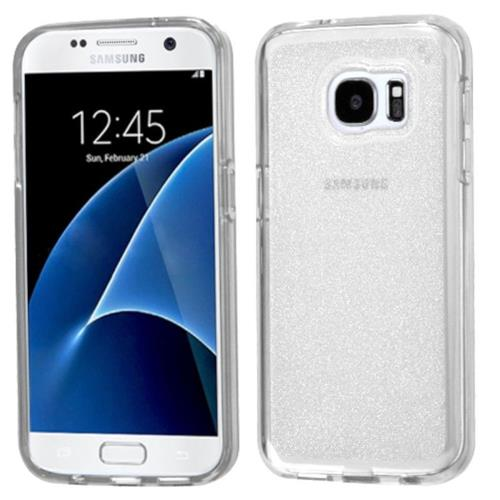 Insten Glittering TPU Glitter Cover Case For Samsung Galaxy S7 - Clear