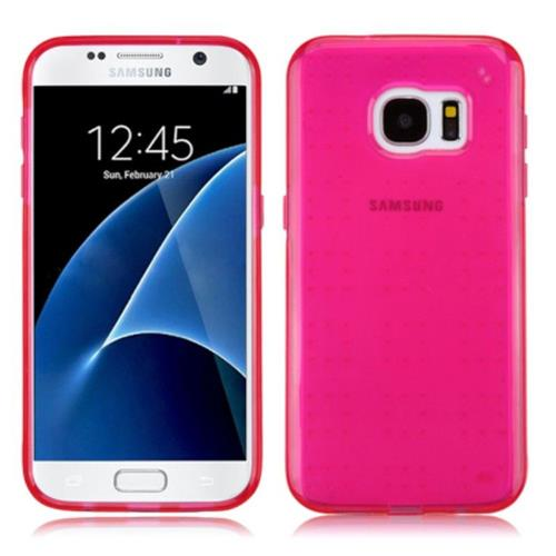 Insten Rubber Cover Case For Samsung Galaxy S7 - Hot Pink