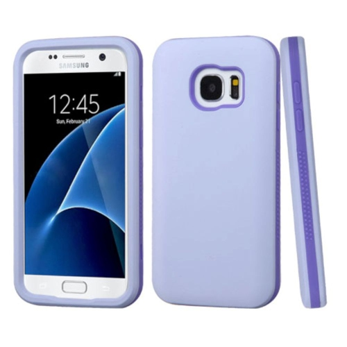 Insten Verge Hard Dual Layer Rubber Silicone Case For Samsung Galaxy S7 - Purple