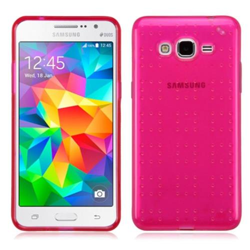 Insten Rubber Cover Case For Samsung Galaxy Grand Prime - Hot Pink