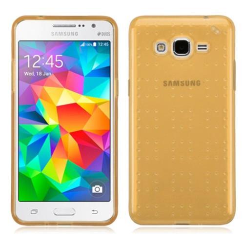 Insten TPU Cover Case For Samsung Galaxy Grand Prime - Gold