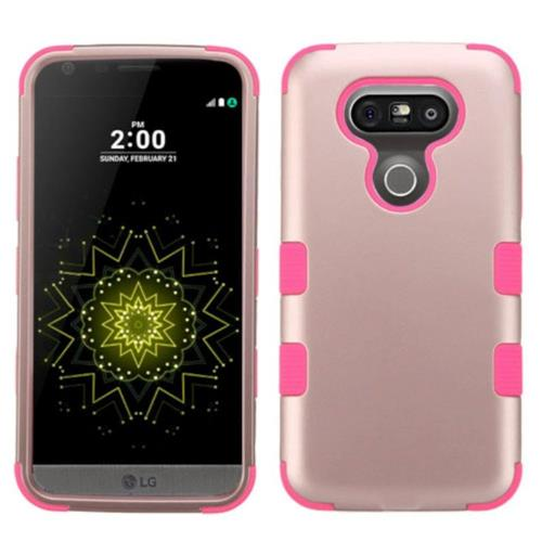 Insten Fitted Soft Shell Case for LG G5 - Pink;Rose Gold