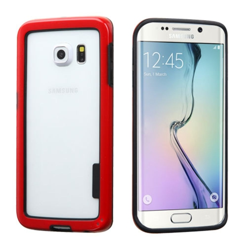 Insten TPU Bumper For Samsung Galaxy S6 Edge - Red