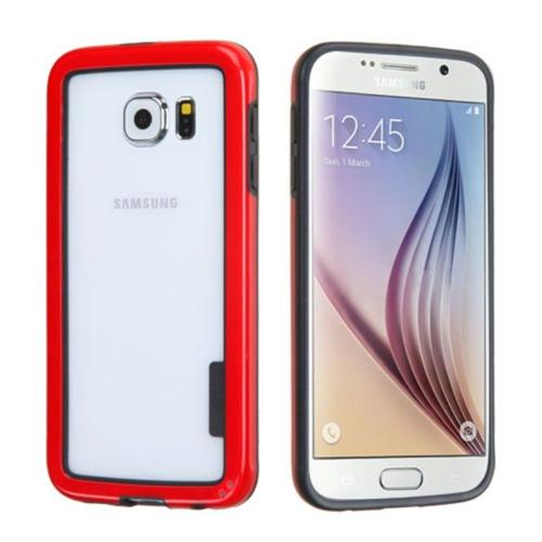 Insten TPU Bumper For Samsung Galaxy S6 - Red