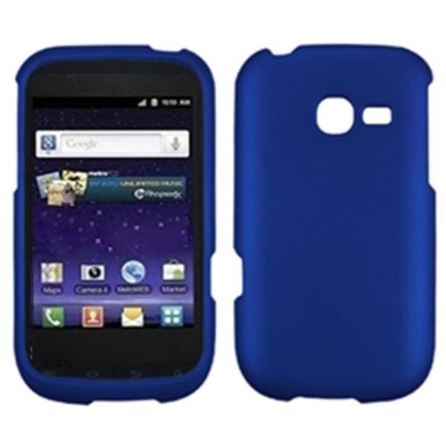 Insten Hard Rubber Coated Cover Case For Samsung Freeform 5 R480 - Dark Blue