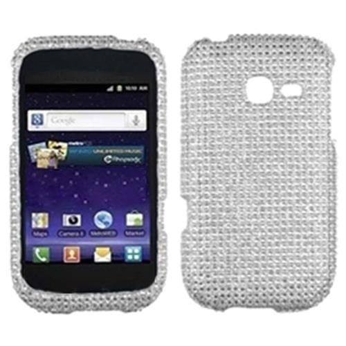 Insten Hard Diamante Cover Case For Samsung Freeform 5 R480 - Silver