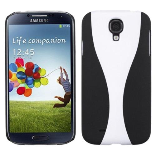 Insten Wave Hard Case For Samsung Galaxy S4/S4 (LTE version) - White/Black