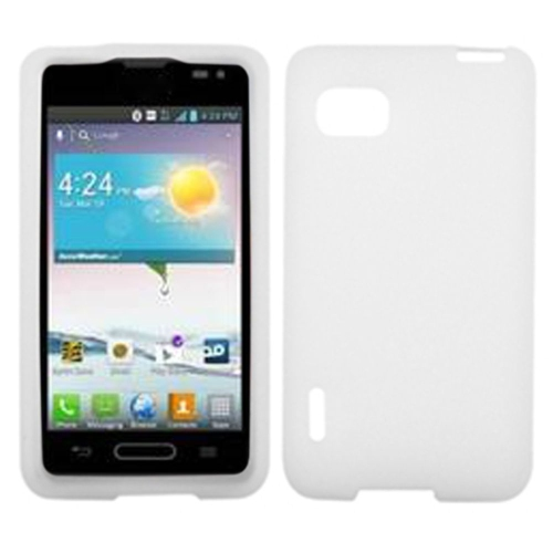 Insten Rubber Case For LG Optimus F3 LS720 (Sprint)/Optimus F3 VM720 (Virgin) - White