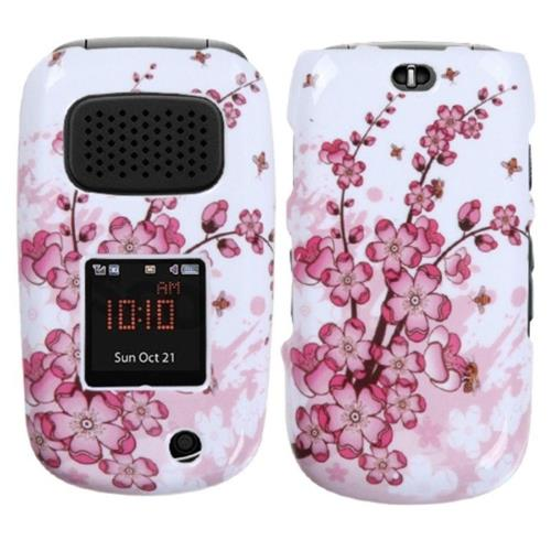 Insten Spring Flowers Hard Cover Case For Samsung Rugby III - Pink/White