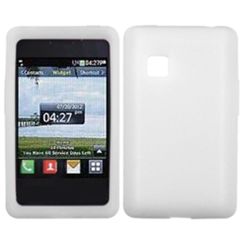 Insten Rubber Cover Case For LG 840G - White