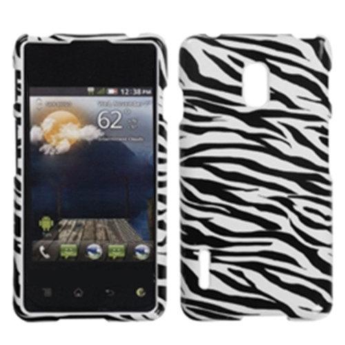 Insten For LG Optimus F7 LG870 US780 (US Cellular) Black Zebra Hard Case Cover