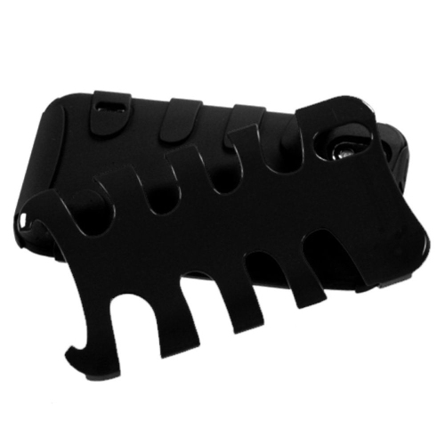 Insten Fishbone Hard Hybrid Silicone Case For LG Marquee/Optimus Black - Black