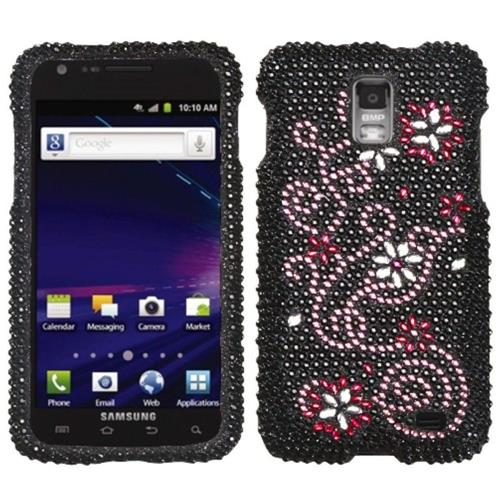 Insten Delight Hard Bling Case For Samsung Galaxy S2 Skyrocket I727 - Black/Pink