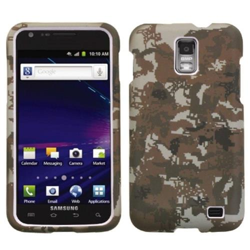 Insten Lizzo Digital Camo Hard Cover Case For Samsung Galaxy S2 Skyrocket I727 - Brown