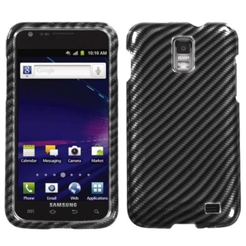 Insten Racing Fiber Hard Cover Case For Samsung Galaxy S2 Skyrocket I727 - Black