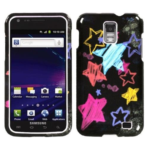 Insten Chalkboard Star Hard Case For Samsung Galaxy S2 Skyrocket I727 - Black/Colorful