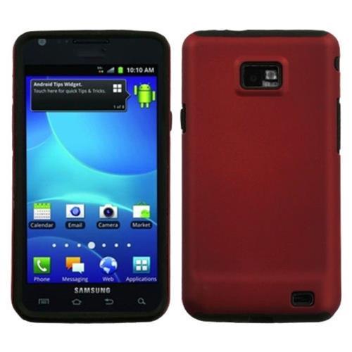 Insten Fusion Hard Dual Layer Silicone Case For Samsung Galaxy S2 Attain I777 - Red