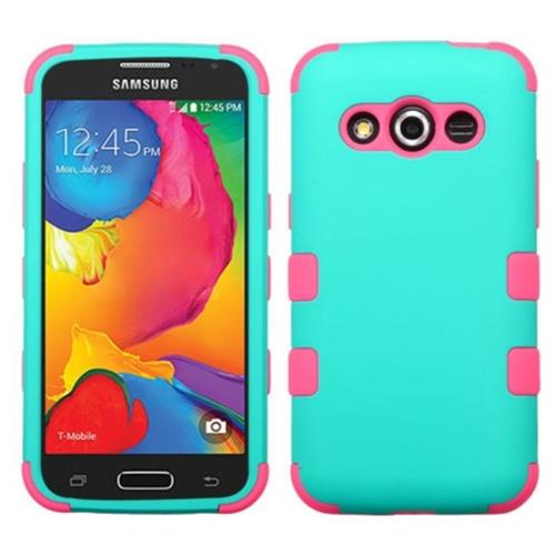 Insten Hard Dual Layer Silicone Cover Case For Samsung Galaxy Avant - Blue/Pink