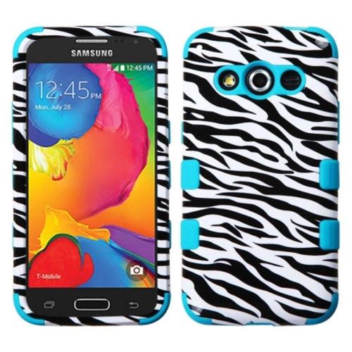 Insten Zebra Hard Hybrid Silicone Case For Samsung Galaxy Avant - Black/White