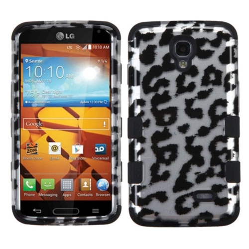 Insten Hard Hybrid Rubber Coated Silicone Cover Case For LG Volt - Black/White
