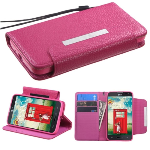 Insten Flip Case w/stand For LG Optimus Exceed 2 VS450PP Verizon/Optimus L70/Realm, Hot Pink