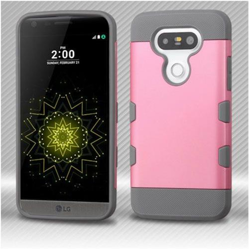 Insten Hard TPU Cover Case For LG G5 - Pink/Gray