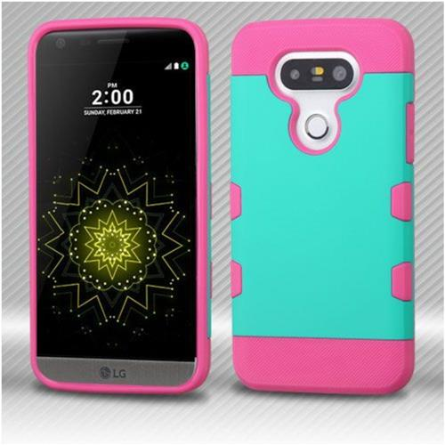 Insten Hard TPU Case For LG G5 - Teal/Hot Pink