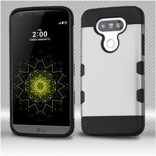 Insten Hard TPU Case For LG G5 - Silver/Black