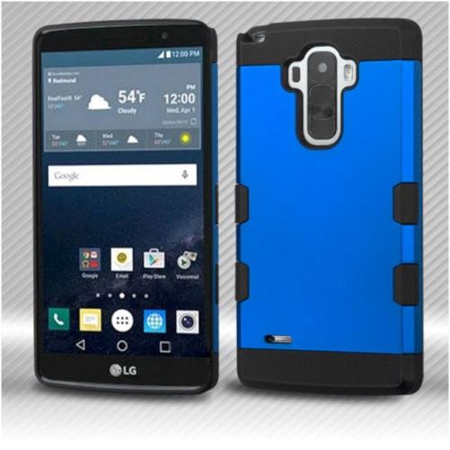 Insten Hard Silicone Case For LG G Stylo LS770/G Vista 2 - Blue/Black